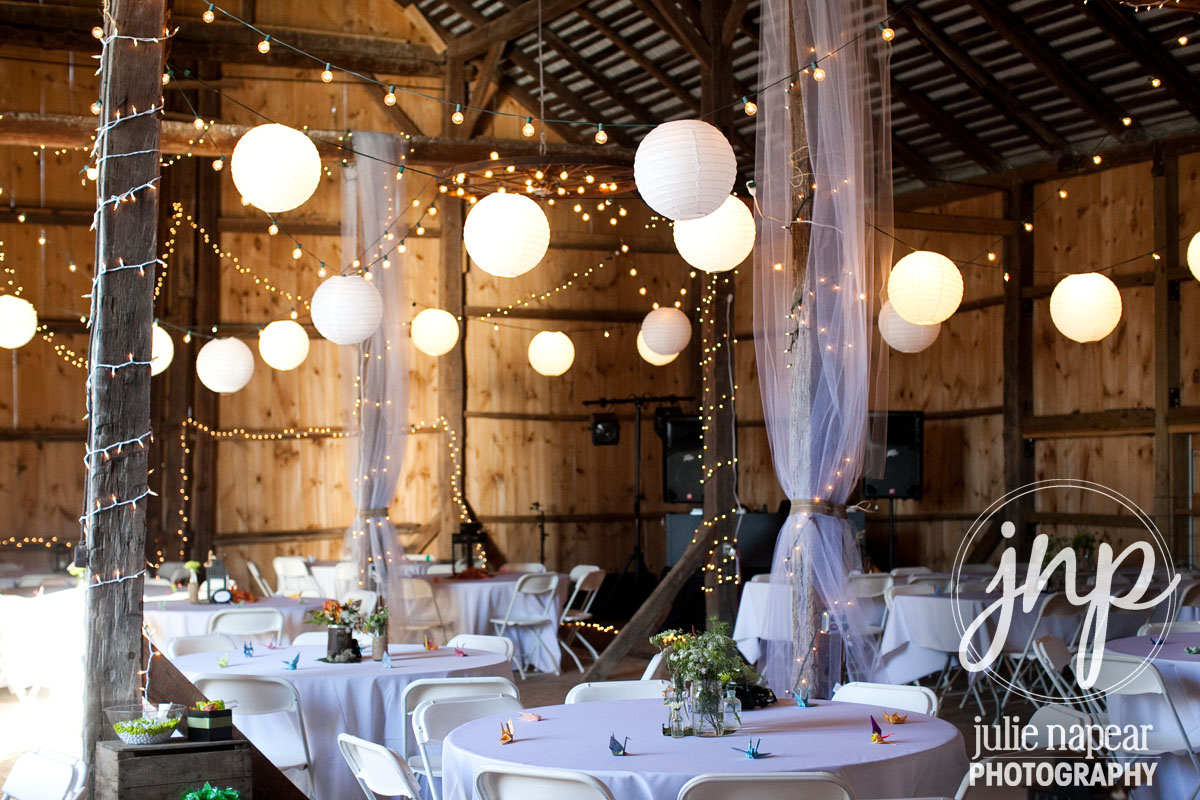 Alpine barn wedding